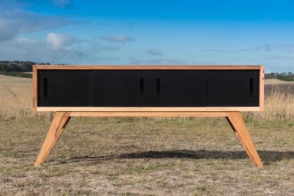 contemporary timber sideboard