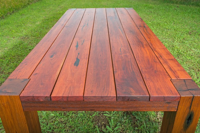 solid red gum outdoor table