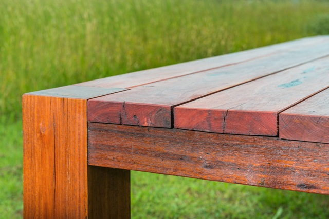 solid jarrah outdoor table