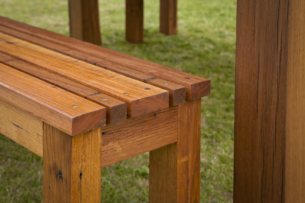 Made to order timber bench