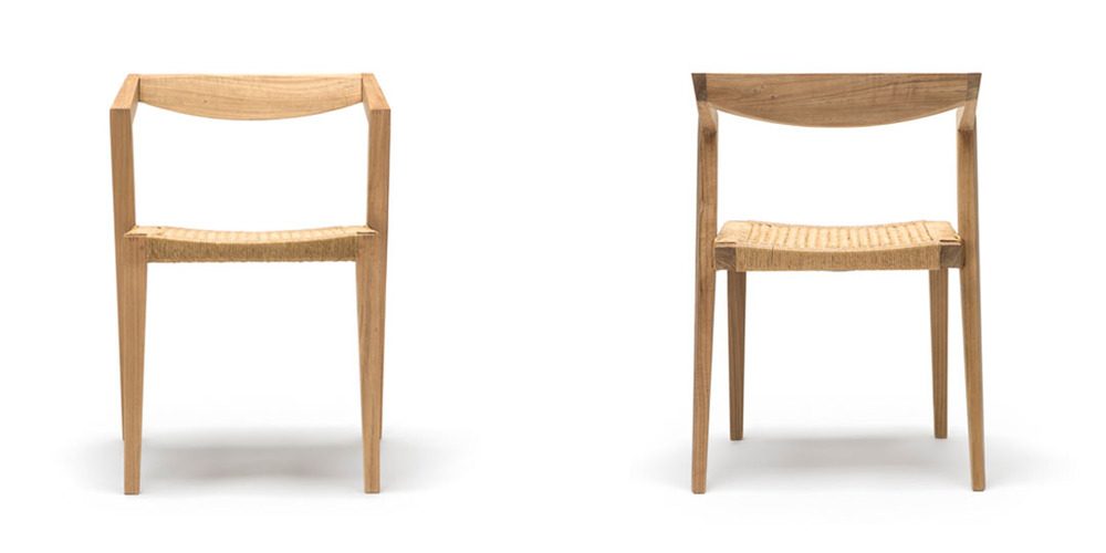 modern timber dining chair