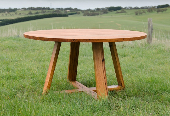 round timber outdoor table 2