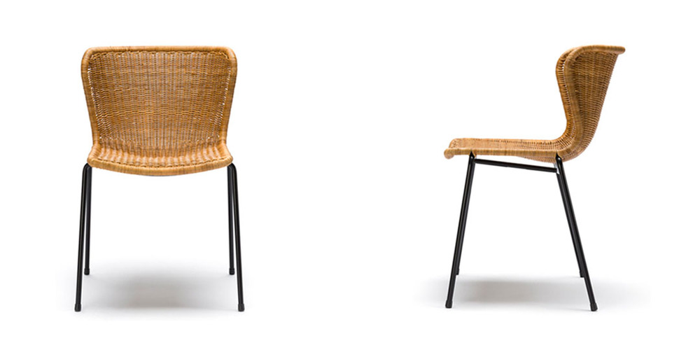 Pulut stain rattan dining chair
