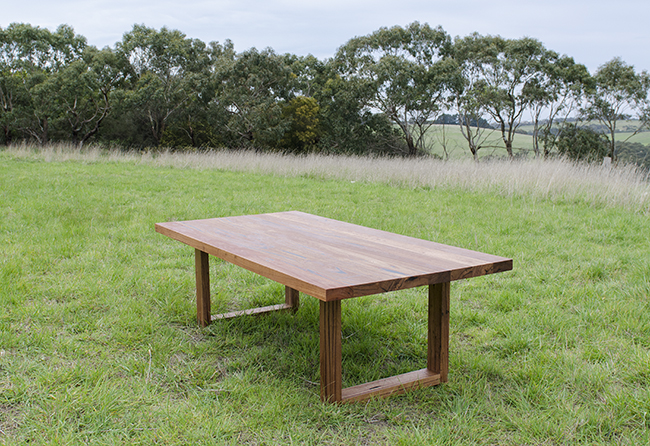 Box leg locally made table