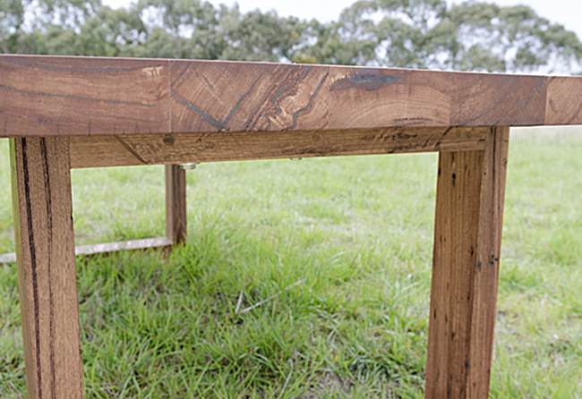 Recycled timber bespoke table