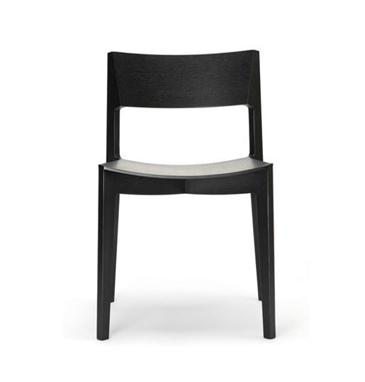 modern black timber dining chair