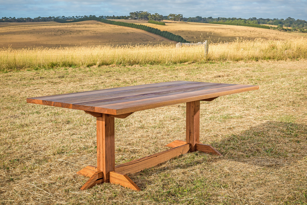 recycled timber refectory table