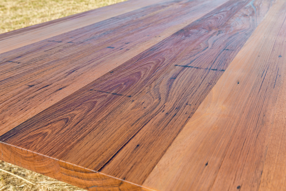 featured timber dining table