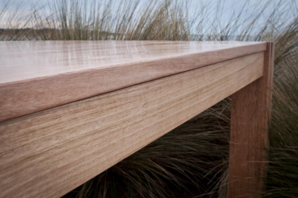 Australian hardwood timber dining table