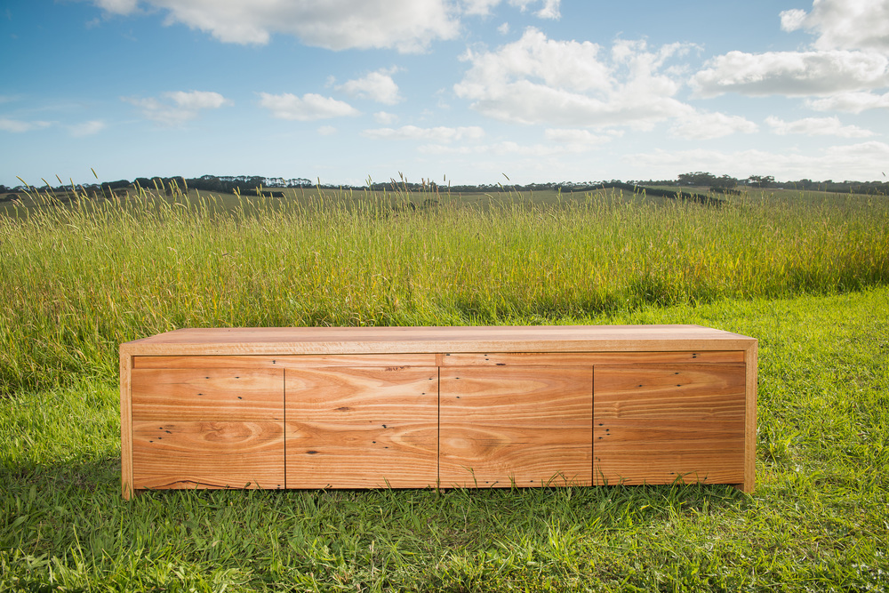recycled timber tv unit