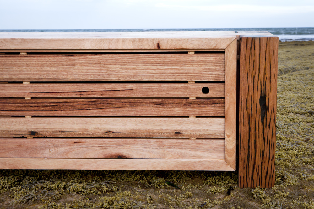 High character blackbutt and messmate TV cabinet