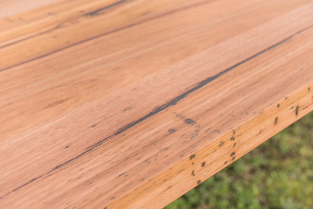 feature filled timber dining table