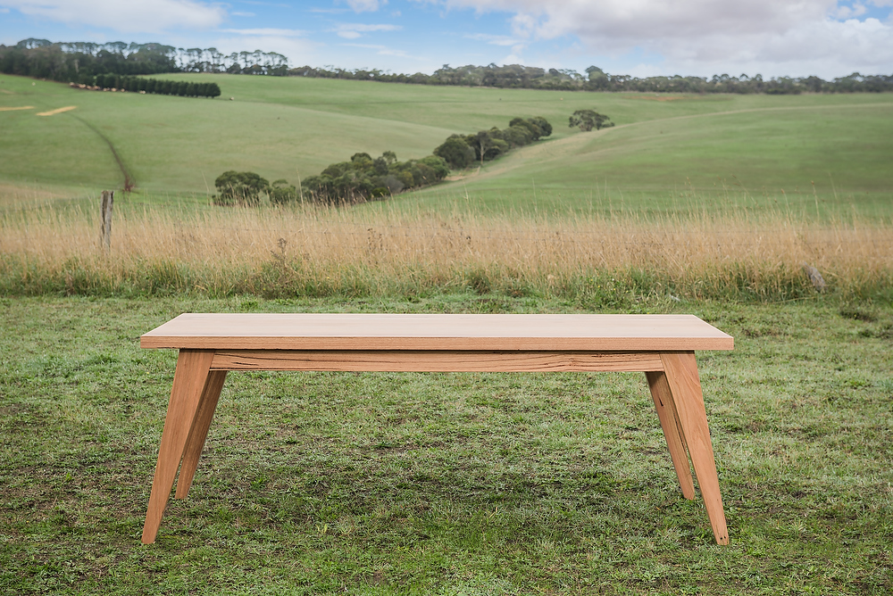 tapered leg timber dining table