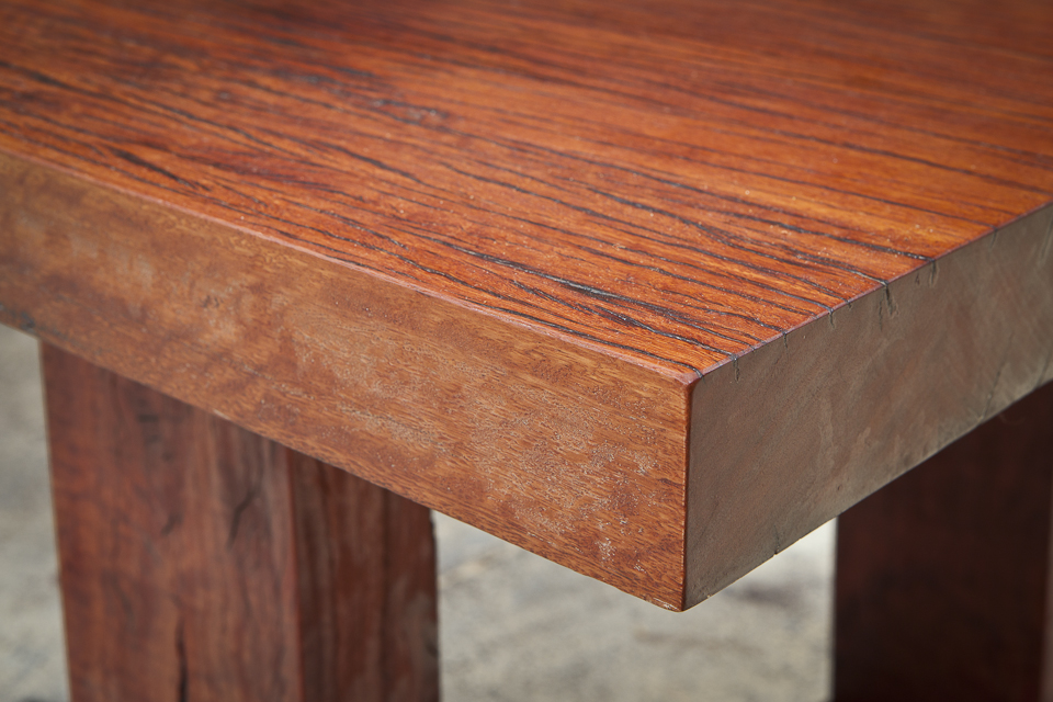 Jarrah - The tree and wood from the Eucalyptus marginata is more commonly called by its Aboriginal name of Jarrah. This timber is richly colored from blonde to brown to deep red, beautifully grained, fiddleback producing stunning and unique
