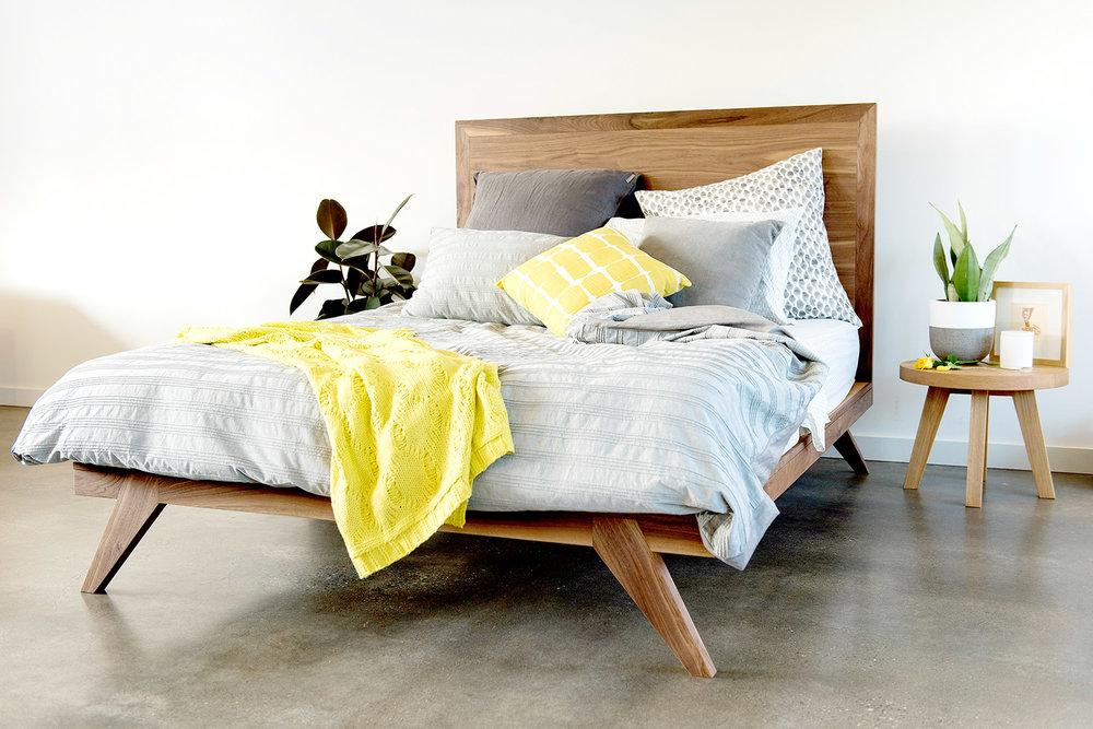 Angled leg bed design