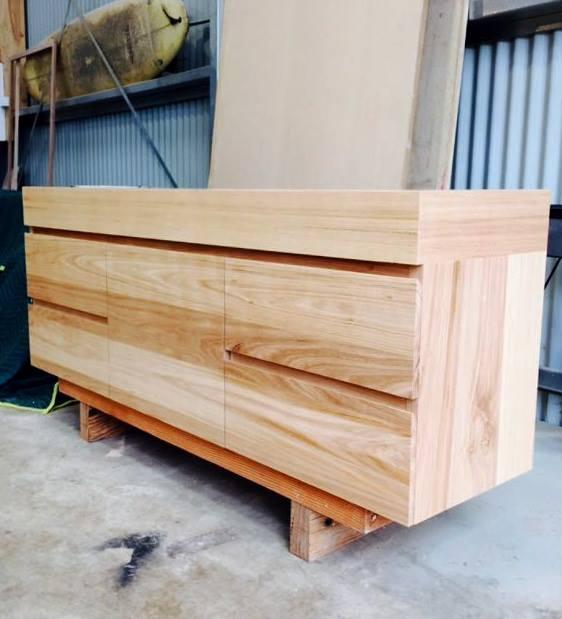 Australian chestnut solid internals vanity