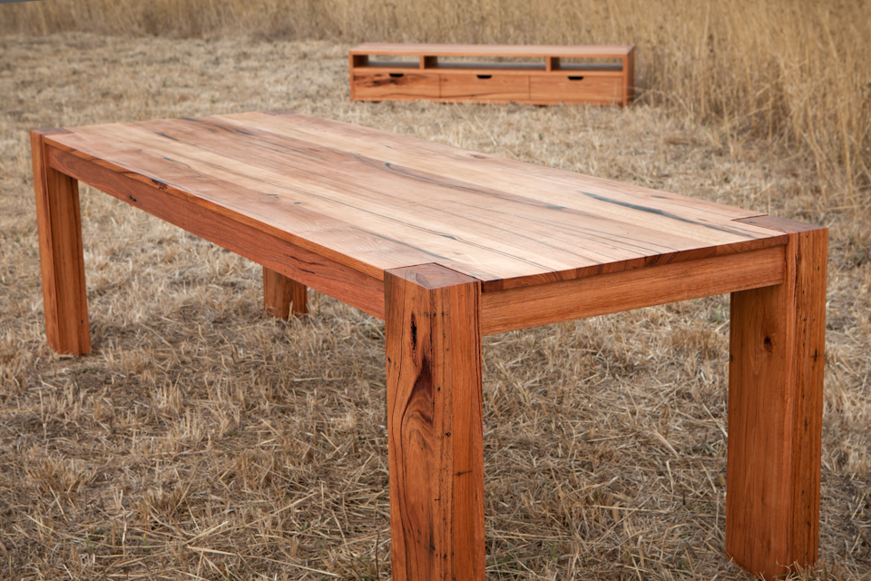 Modern recycled timber dining tables