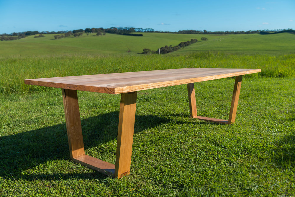 modern timber dining table