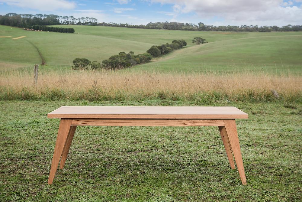 scandi timber dining table