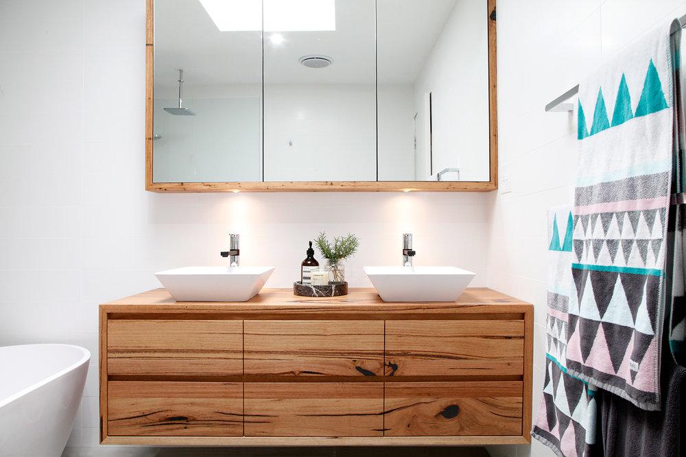 custom made timber shaving cabinet