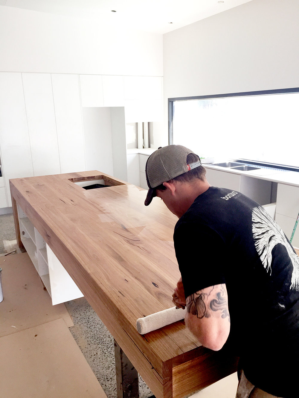 custom kitchen bench top