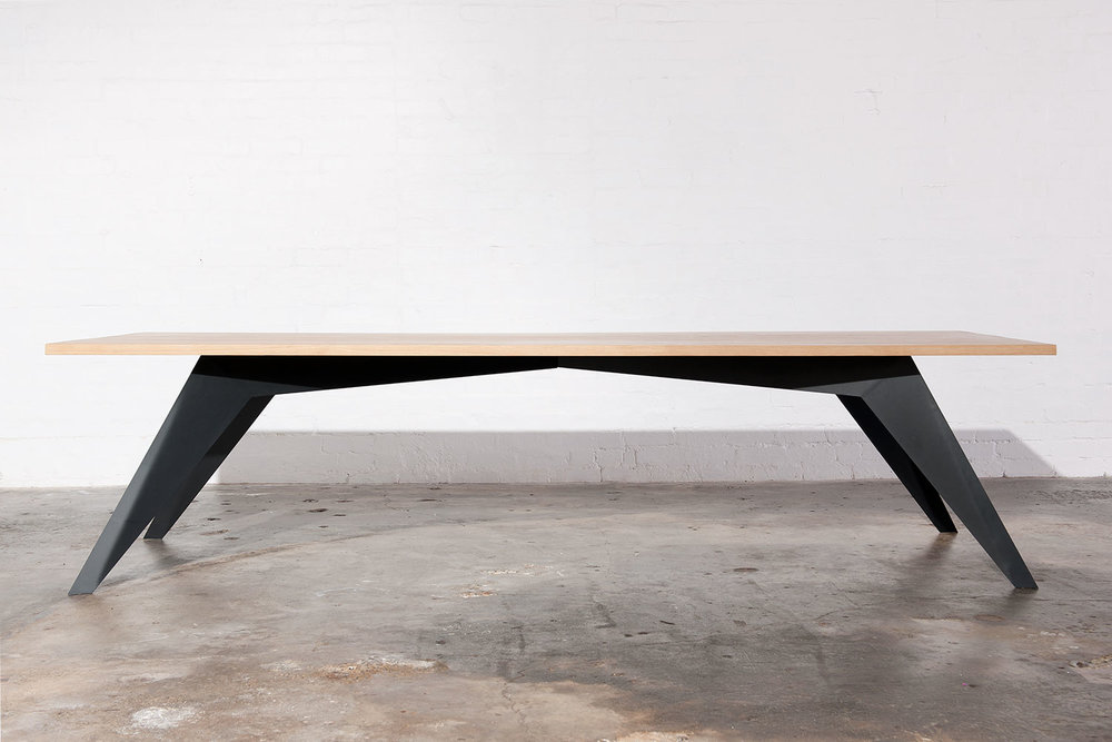 Luxe industrial dining table