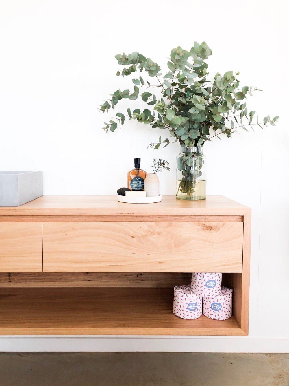Scandinavian timber vanity