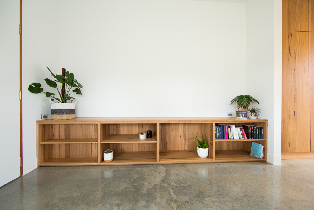 Custom timber bookcase