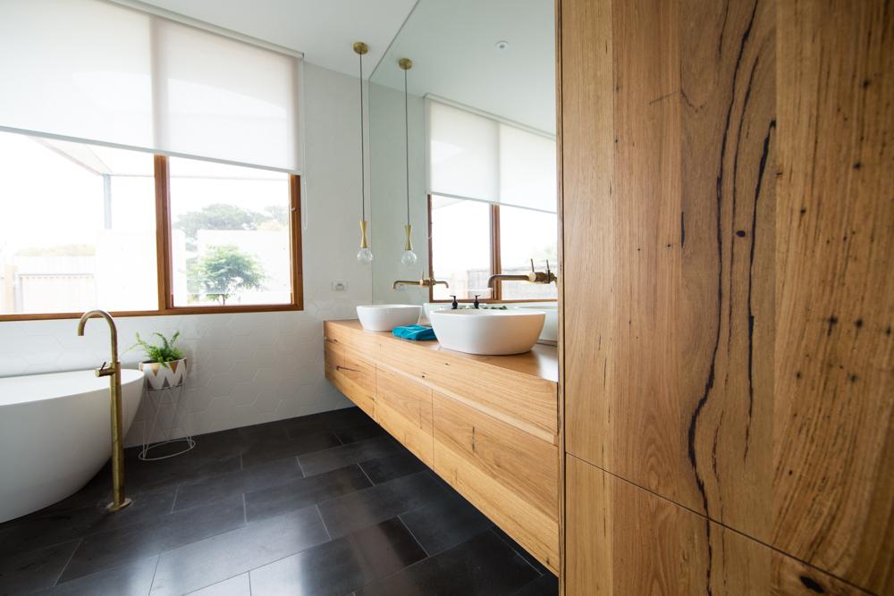 Custom timber vanity