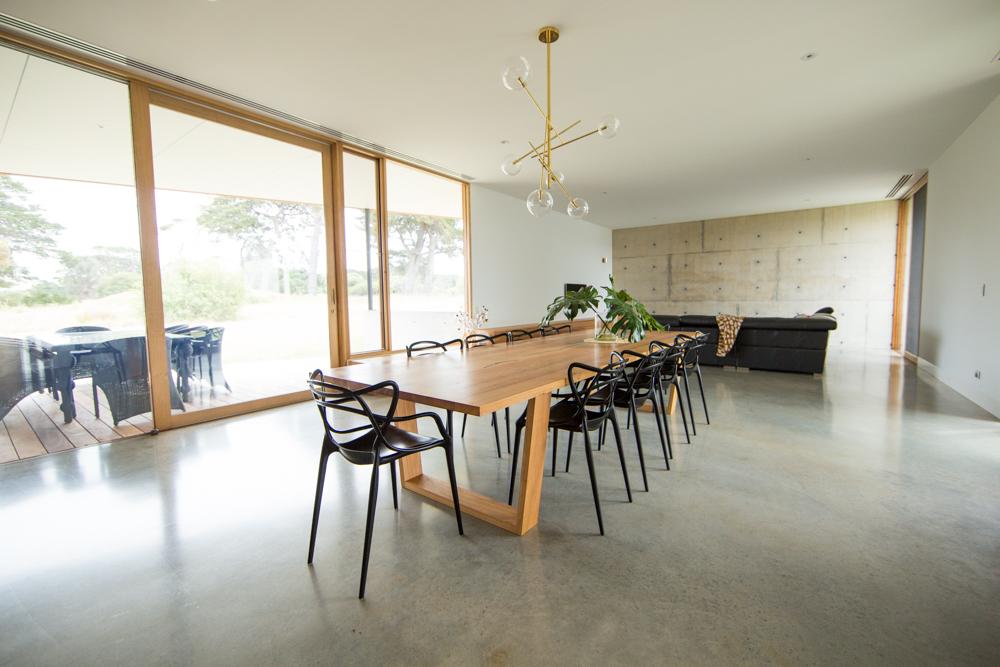 Custom messmate dining table