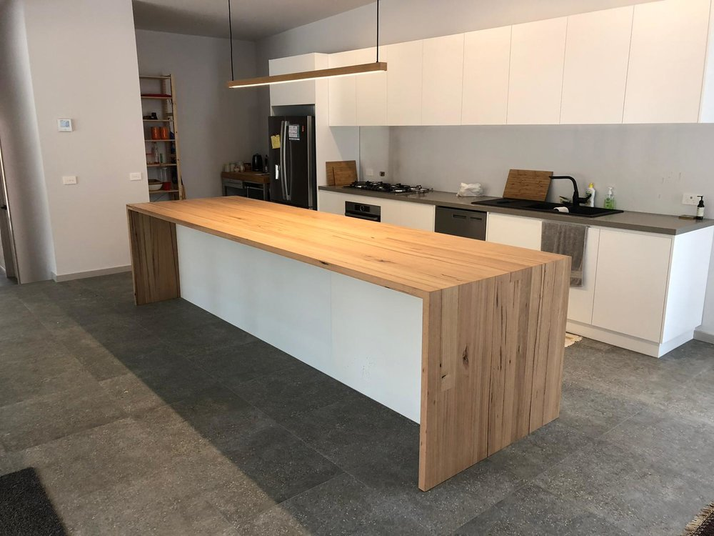 timber kitchen island bench top