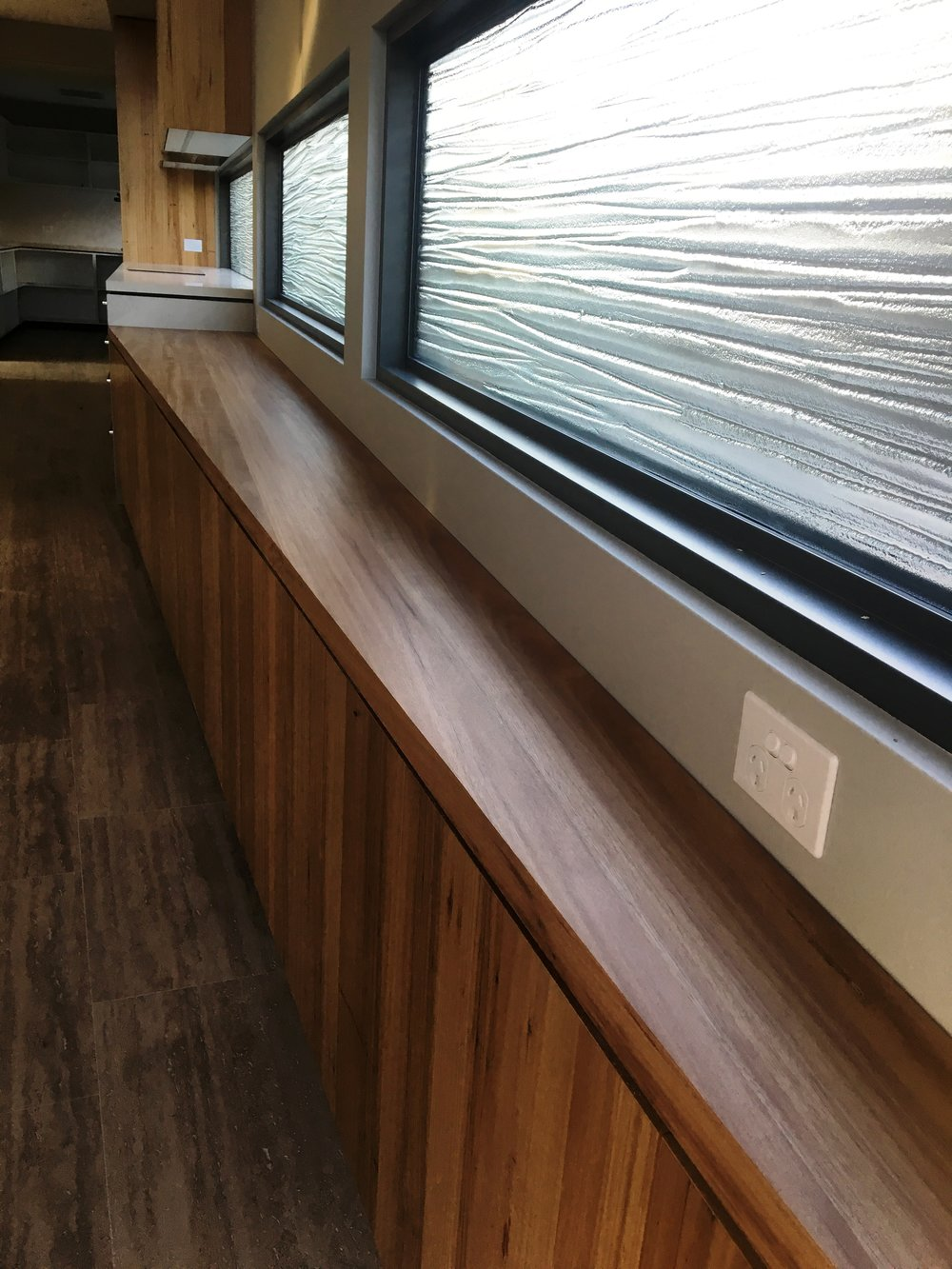 recycled timber benchtop