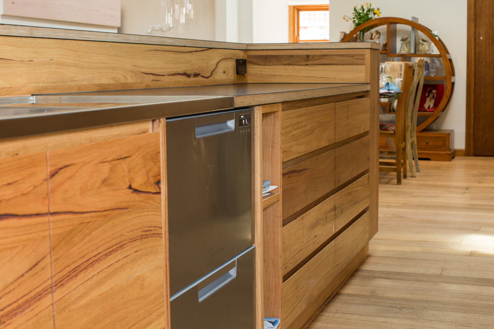 Solid timber kitchen drawers