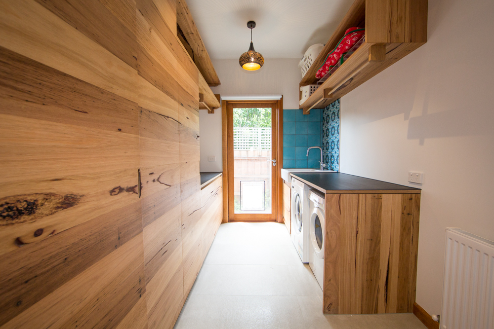 laundry timber cabinetry