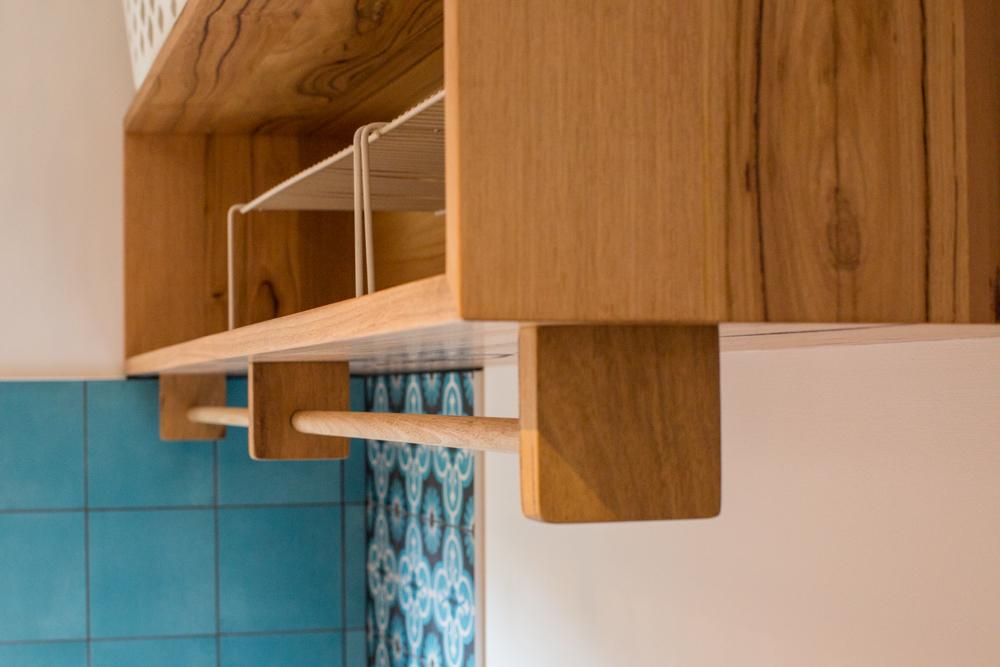 Timber wall hung cabinet