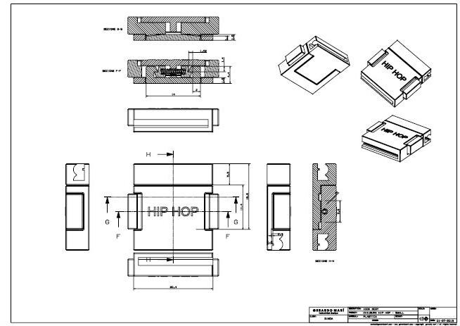Safe Push - Hip Hop - technical drawing