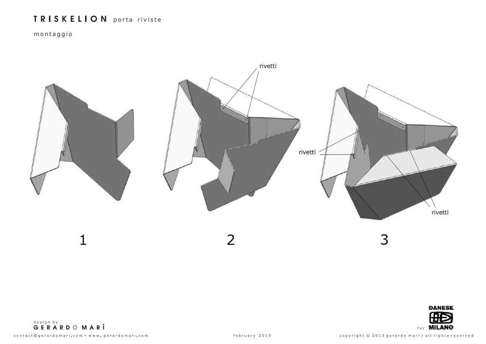 Triskelion - Danese - assembling process