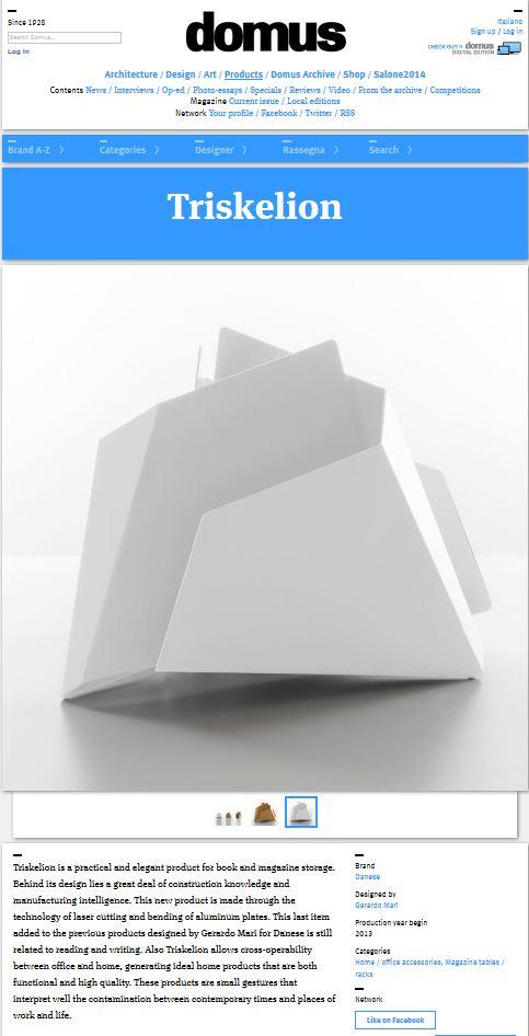 Domus Web - May 2013 - Italy - Triskelion