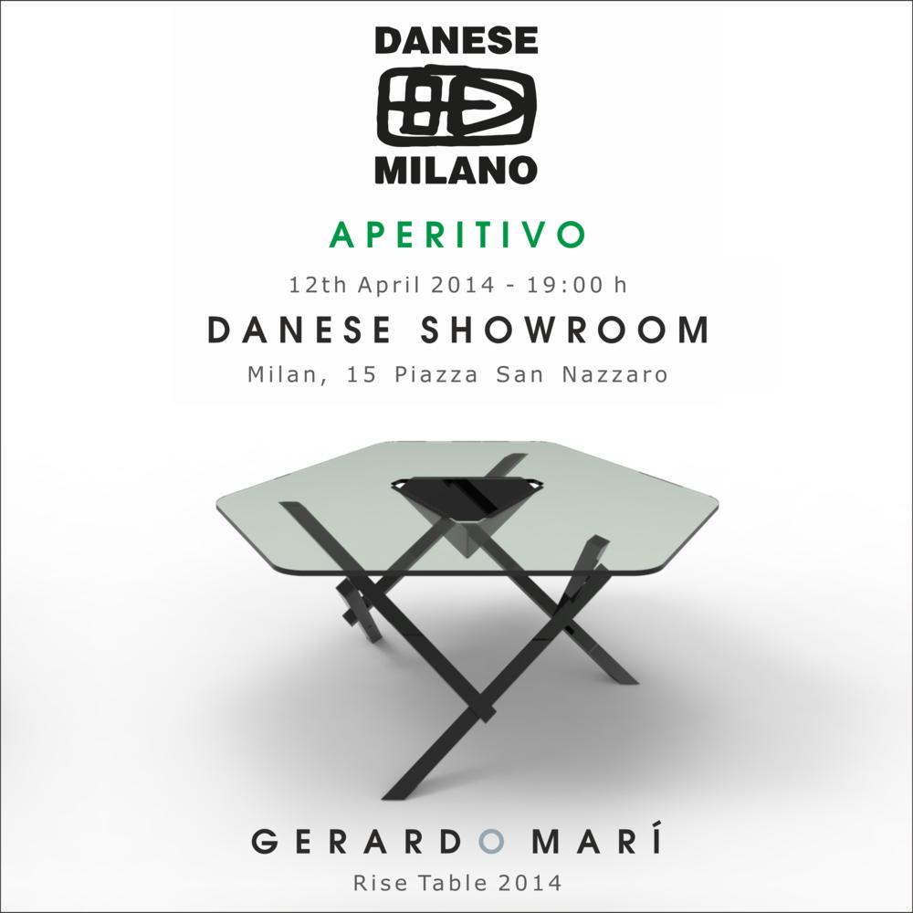 invito aperitivo rise table gerardo mari danese milano