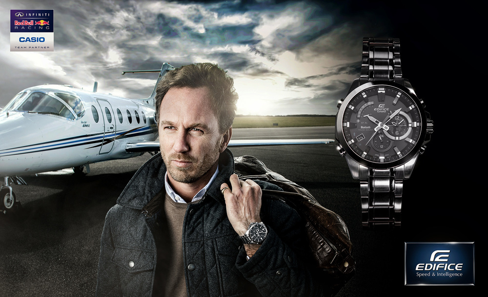CHRISTIAN HORNER CASIO WATCH AD CAMPAIGN