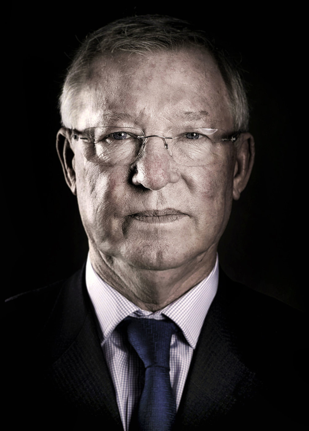 SIR ALEX FERGUSON PHOTOGRAPHED AT THE MOTTRAM HALL HOTEL FOR UEFA PHOTO CREDIT PUAL COOPER