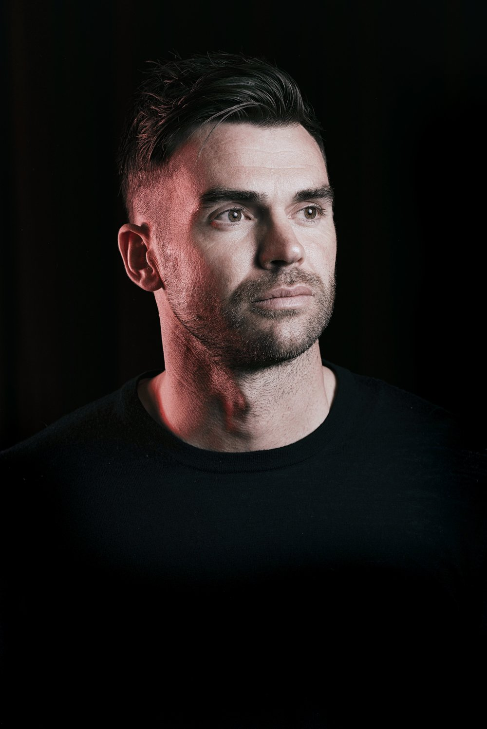 JAMES ANDERSON CRICKET PLAYER PICTURED AT OLD TRAFFORD CRICKET GROUND PHOTO CREDIT PAUL COOPER