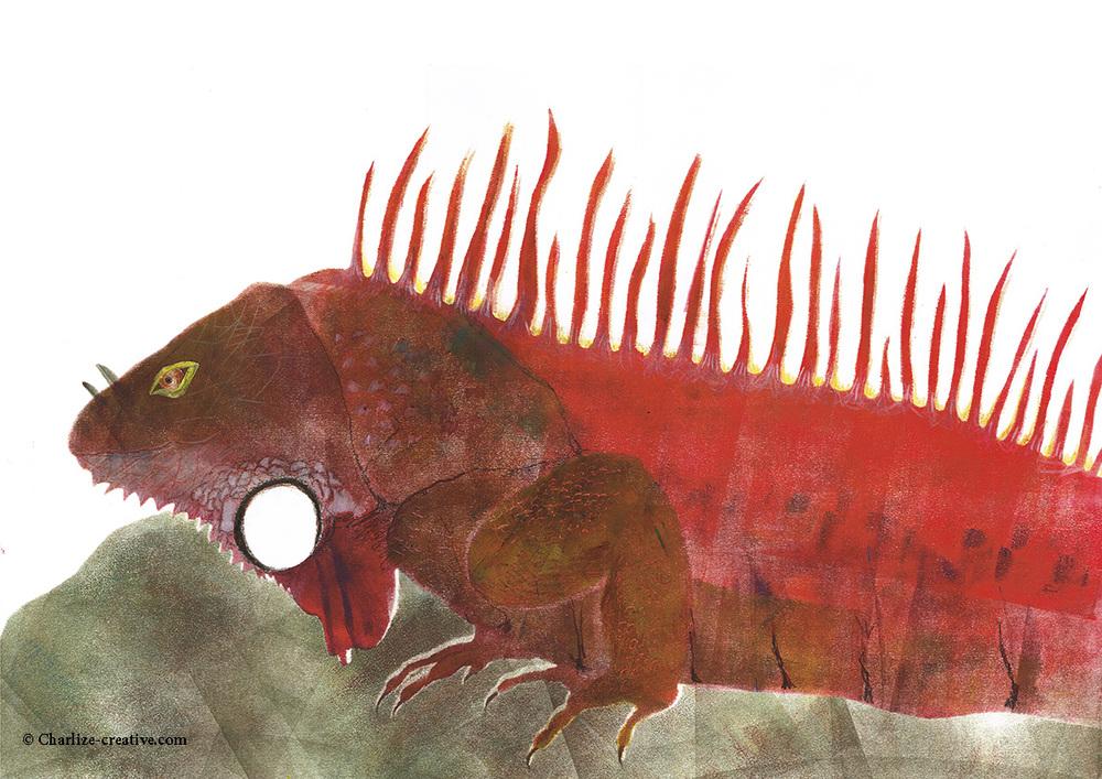 Iguana print