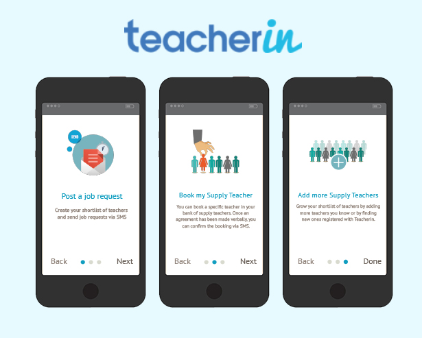 TEACHERIN  -  Onboarding UX / Mobile app
