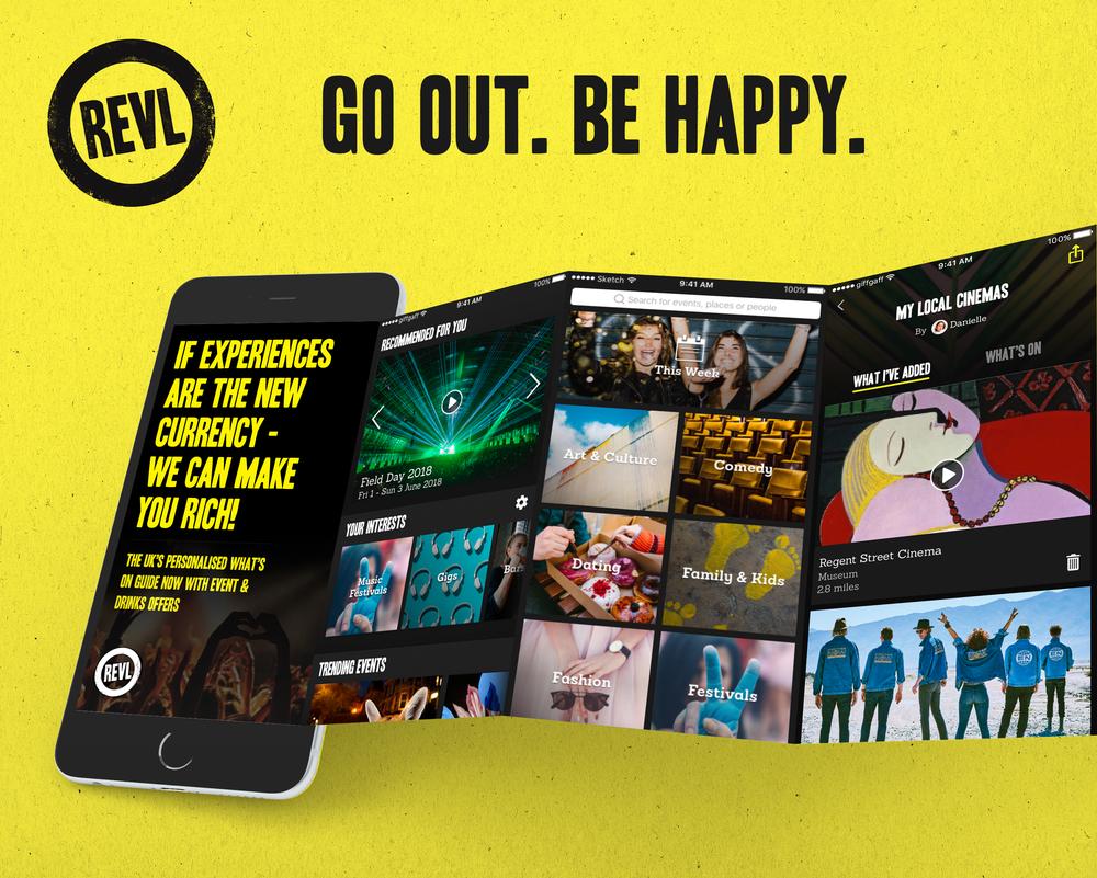 REVL - Consumer mobile App UX & UI