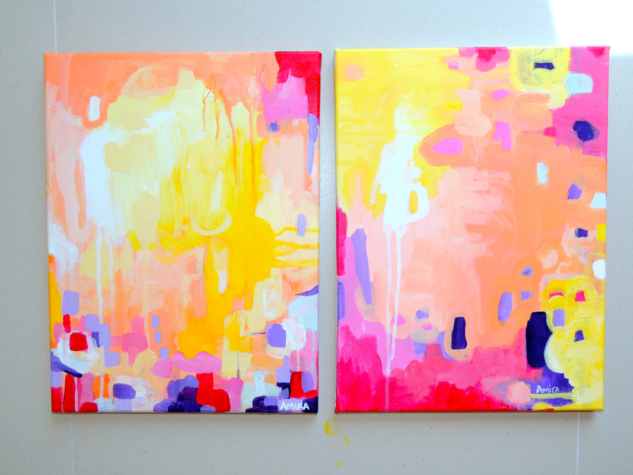 """Pixie"" and ""High Born"" both 12x16 on canvas"