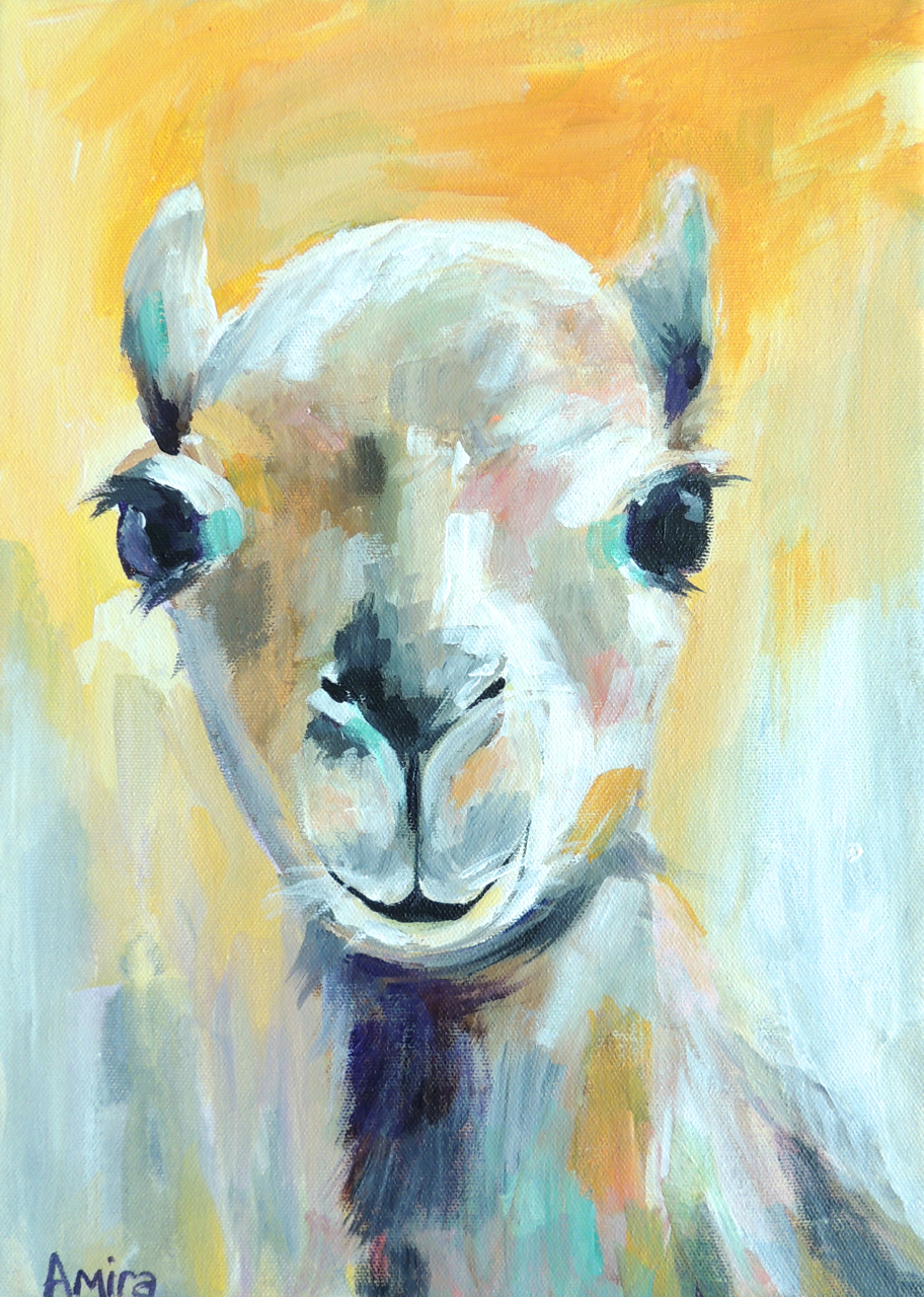 """Brown Baby Camel""10x14 inches Acrylic on canvas"