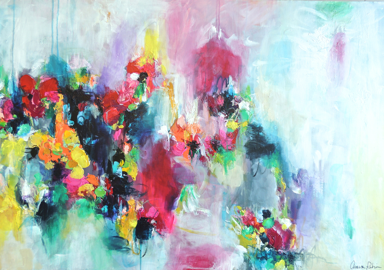 """Fae Flowers"" 28x40"" canvas Available at www.amirarahim.com"