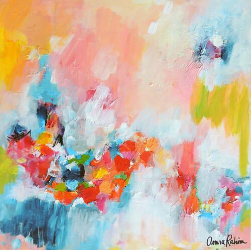 """Chasing Waterfalls"" 20x20"" Original Abstract Painting"