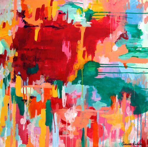 """Happy Not Hippy"" Original Abstract Expressionist Painting"